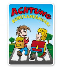 Kinderschild Achtung Schulanfänger - KSP-2