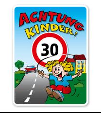 Kinderschild Achtung Kinder 30er Zone - KSP-2