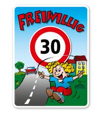 Kinderschild Freiwillig 30 km/h - KSP-2