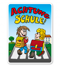 Kinderschild Achtung Schule - KSP-2