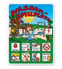 Spielplatzschilder Wasserspielplatz 8P - KSP-2