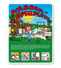 Spielplatzschilder Wasserspielplatz 4P - KSP-2