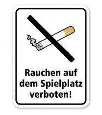 Zusatzschild Rauchen auf dem Spielplatz ist verboten
