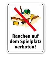 Spielplatzschild Rauchen auf dem Spielplatz verboten – KSP-2
