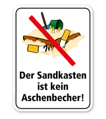 Spielplatzschild Der Sandkasten ist kein Aschenbecher – KSP-2