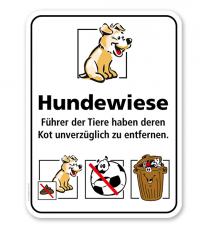 Hundeschild Hundewiese 3P – KSP-2