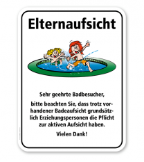 Badeschild Elternaufsicht am Kinderbecken – KSP-2