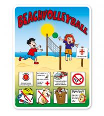 Spielplatzschild Beachvolleyball 8P - KSP-2