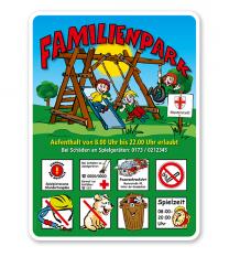 Spielplatzschild Familienpark 8P - KSP-2