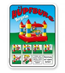 Spielplatzschild Hüpfburg Regeln - KSP-2