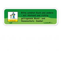 Spielplatz Zusatzschild Mund-Nasen-Schutz für Erwachsene - KSP-2