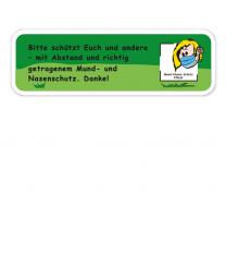 Spielplatz Zusatzschild Mund-Nasen-Schutz - KSP-2