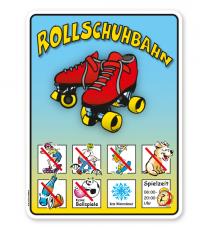 Schild Rollschuhbahn 8P - KSP-2