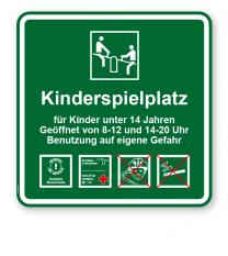 Spielplatzschild Kinderspielplatz 4P - KSP-3