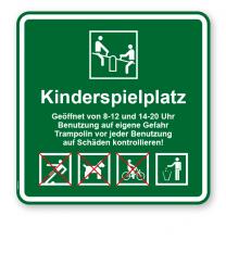Spielplatzschild Kinderspielplatz 4P - 2 - KSP-3