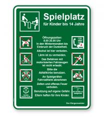 Spielplatzschild Spielplatz 8P - KSP-3
