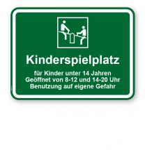 Spielplatzschild Kinderspielplatz - KSP-3