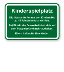 Spielplatzschild Kinderspielplatz - 2 - KSP-3