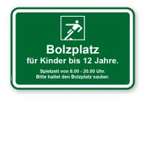 Bolzplatzschild Bolzplatz - KSP-3