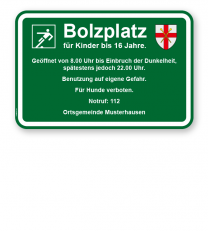 Bolzplatzschild Bolzplatz - 2 - KSP-3