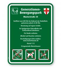 Spielplatzschild Generationen-Bewegungspark 3P - KSP-3