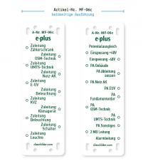 Kennzeichnung von Mobilfunkanlagen - e-plus MF-06c