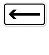 Zusatzschild Linksweisend – Verkehrsschild VZ 1000-10