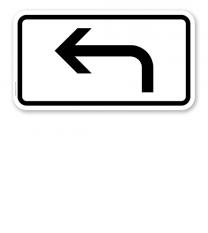 Zusatzschild Vorankündigung linksweisend – Verkehrsschild VZ 1000-11