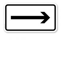 Zusatzschild Rechtsweisend – Verkehrsschild VZ 1000-20
