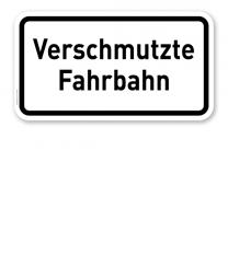 Zusatzschild Verschmutzte Fahrbahn – Verkehrsschild VZ 1006-35