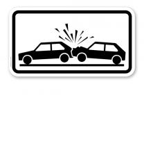 Zusatzschild Unfallgefahr – Verkehrsschild VZ 1007-31
