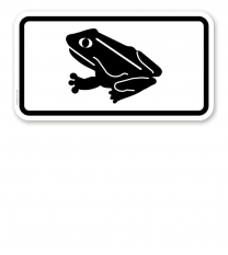 Zusatzschild Amphibienwanderung – Verkehrsschild VZ 1007-33