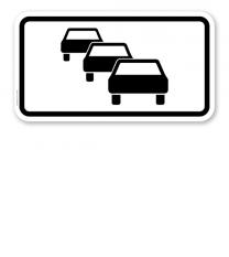 Zusatzschild Staugefahr – Verkehrsschild VZ 1007-32