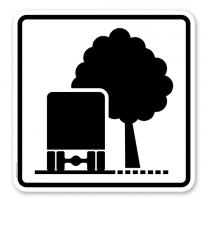 Zusatzschild Unzureichendes Lichtraumprofil - Verkehrsschild VZ 1007-34