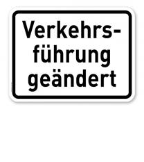 Zusatzschild Verkehrsführung geändert – Verkehrsschild VZ 1008-31