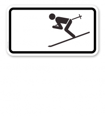 Zusatzschild Wintersport erlaubt – Verkehrsschild VZ 1010-11