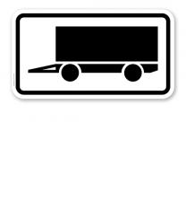Zusatzschild Für Parkflächen, auf denen Anhänger auch länger als 14 Tage parken dürfen – Verkehrsschild VZ 1010-12