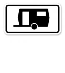 Zusatzschild Für Parkflächen, auf denen Wohnwagen auch länger als 14 Tage parken dürfen – Verkehrsschild VZ 1010-13