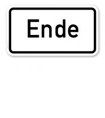 Zusatzschild Ende – Verkehrsschild VZ 1012-31