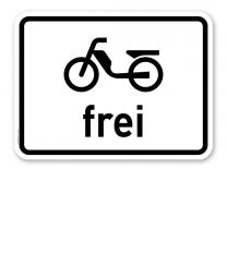 Zusatzschild Mofas frei – Verkehrsschild VZ 1022-11