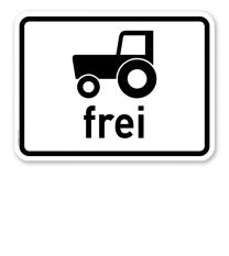 Zusatzschild Kraftfahrzeuge und Züge, die nicht schneller als 25 km/h fahren können oder dürfen, frei - Verkehrsschild VZ 1024-17