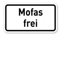 Zusatzschild Mofas frei – Verkehrsschild VZ 1026-31
