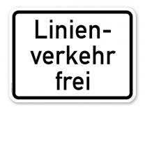 Zusatzschild Linienverkehr frei – Verkehrsschild VZ 1026-32
