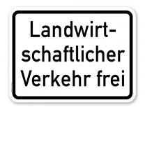 Zusatzschild Landwirtschaftlicher Verkehr frei – Verkehrsschild VZ 1026-36