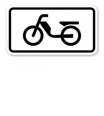 Zusatzschild Nur Mofas – Verkehrsschild VZ 1046-11
