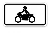 Zusatzschild Nur Krafträder, auch mit Beiwagen, Kleinkrafträder, Mofas – Verkehrsschild VZ 1046-12