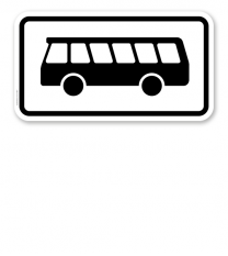 Zusatzschild Nur Kraftomnibusse – Verkehrsschild VZ 1048-16