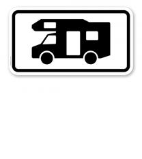 Zusatzschild Nur Wohnmobile – Verkehrsschild VZ 1048-17