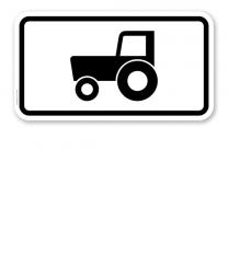 Zusatzschild Nur Kraftfahrzeuge und Züge, nicht schneller als 25 km/h – Verkehrsschild VZ 1049-10