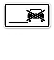 Zusatzschild Halteverbot auch auf dem Seitenstreifen – Verkehrsschild VZ 1060-31